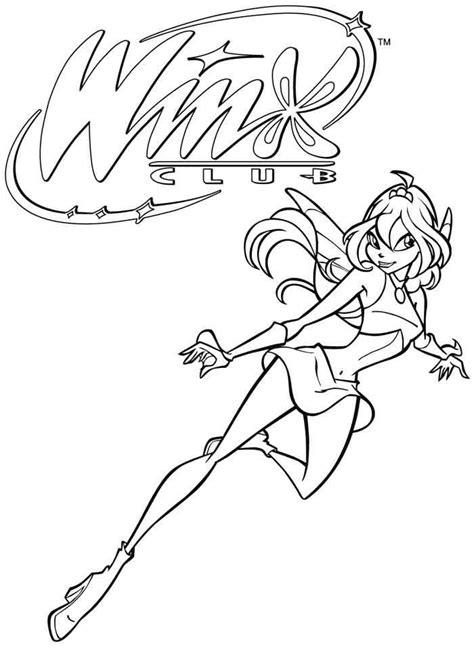 dessins de coloriage winx club bloom  imprimer