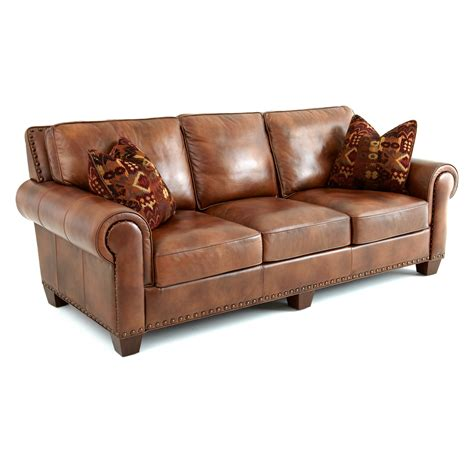 Pillows For Leather Sofa by Steve Silver Silverado Leather Sofa With 2 Accent Pillows