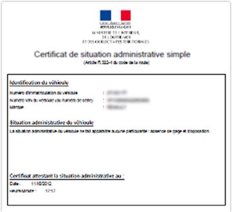 certificat de non gage d une voiture