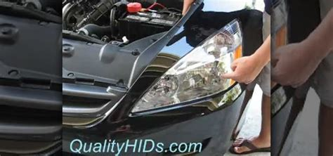 how to install hid xenon headlight bulbs in a honda accord