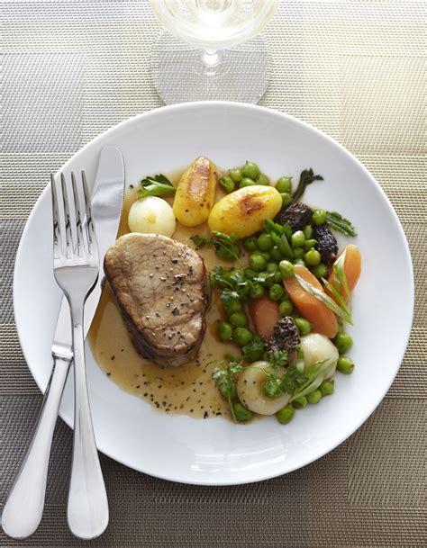 cuisines et vins de recettes veau légumes et morilles pour 4 personnes recettes