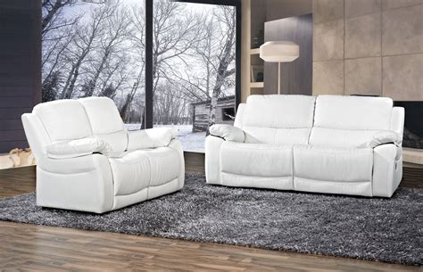 canap en cuir blanc canapé angle cuir blanc pas cher