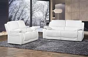 Canape Cuir Blanc Angle : canap angle cuir blanc pas cher ~ Teatrodelosmanantiales.com Idées de Décoration