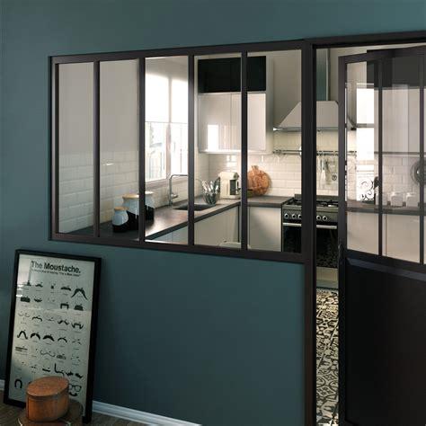 verriere coulissante pour cuisine une verrière d 39 intérieur au style industriel leroy merlin