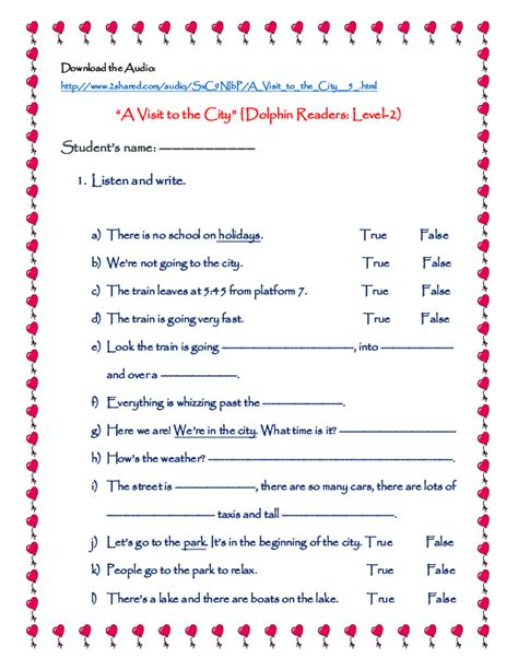 listening skills worksheets for elementary students