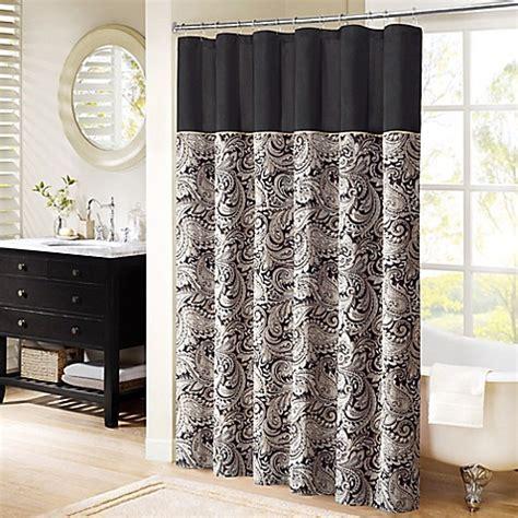madison park aubrey jacquard shower curtain bed bath