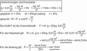 Watt Berechnen Formel : oberstufe l sung der aufgaben zu arbeit leistung und dem wirkungsgrad i ~ Themetempest.com Abrechnung