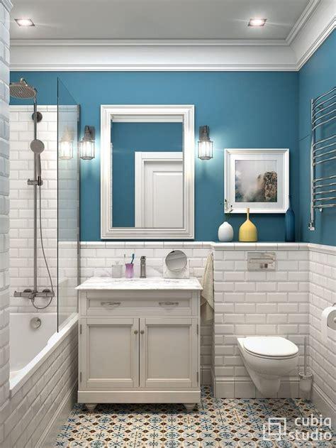 Badezimmer Regal Fliesen badezimmer blaue wandfarbe wei 223 e fliese badewanne