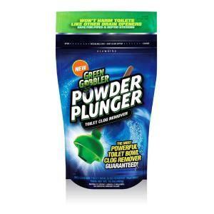 greens in powder form green gobbler 16 5 oz powder plunger toilet clog remover