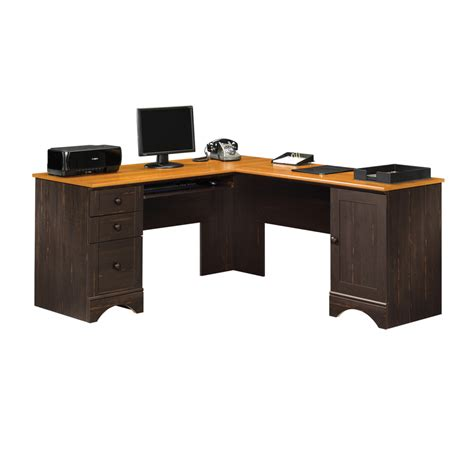 l shaped desk accessories shop sauder harbor view casual l shaped desk at lowes com