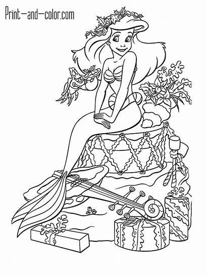 Mermaid Coloring Pages Ariel Toys Superhero Pony