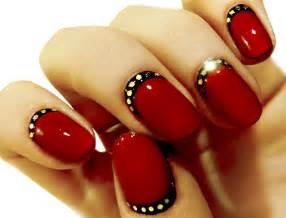 Red and black nail designs nailspedia