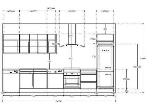 cuisine autocad elevation cuisine lineaire jpeg kitchen 1