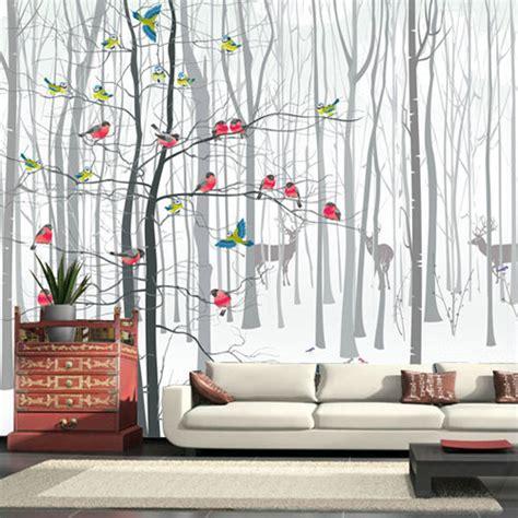 chambre aubergine et blanc papierpeint9 fresque murale papier peint
