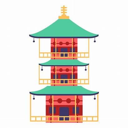 Pagoda Japanese Japonesa Transparent Casa Svg Japon