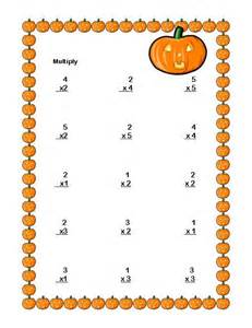 Halloween Multiplication Worksheets Third Grade by 1000 Images About Math Papers On Pinterest Christmas
