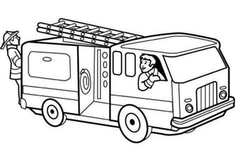 printable fire truck coloring page  kids