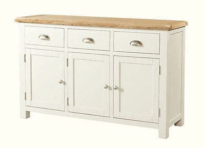Cotton Cupboard by Soft Cotton Painted Chunky Oak Large Sideboard Cupboard
