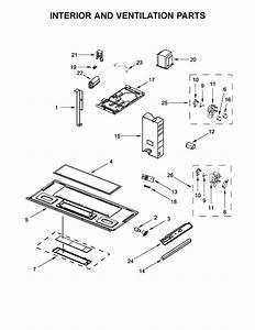 Whirlpool Model Wmh31017hs0 Microwave  Hood Combo Genuine Parts