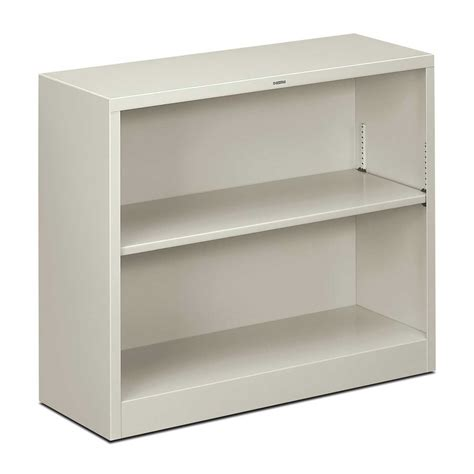 white two shelf hon metal bookcase to keep the stuffs in order