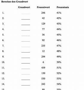 Prozentwerte Berechnen : grundwert berechnen arbeitsblatt grundwertberechnung mit ~ Themetempest.com Abrechnung