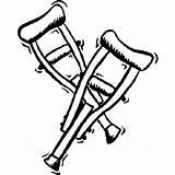 Coloring Hospital Crutches Pages Krukken Gebroken Been Kleurplaat Clipart Colouring Ziekenhuis Kleurplaten Printable Van Fun Clip Als Je Voor Popular sketch template
