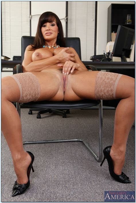 Comely Milf In Stockings Lisa Ann Exposing Fabulous Butt And Boobs Pornpics Com