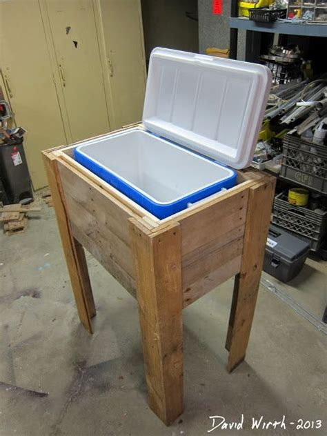 plans  build   wood cooler stand cooler stand