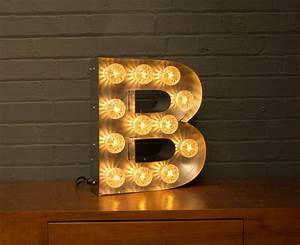 light up marquee bulb letters b by goodwin goodwin With bulbs for marquee letters