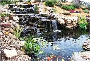Gartenteich Mit Wasserfall : gartenteich ideen bilder wohndesign ~ Orissabook.com Haus und Dekorationen