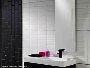 Carrelage Salle De Bain Blanc : carrelage 10x20 metro blanc noir rouge carrelage 1er choix ~ Melissatoandfro.com Idées de Décoration