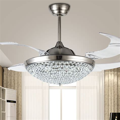 ceiling fan with chandelier light popular ceiling fan crystal chandelier buy cheap ceiling