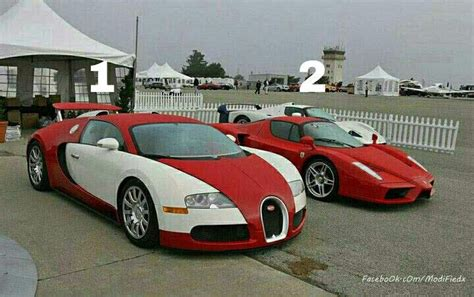 Bugatti Vs Enzo Ferrari