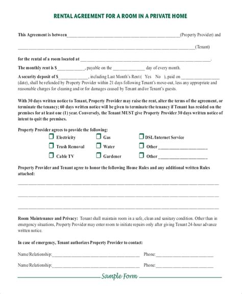 simple rental agreement   word  documents