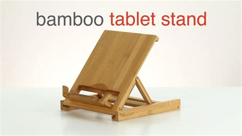 wooden charging station bamboo tablet stand