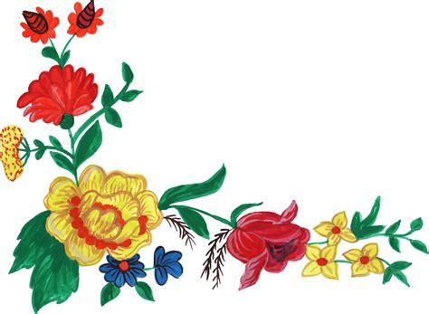 watercolor flower corner png transparent vol