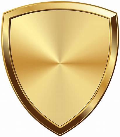 Badge Transparent Golden Clip Clipart Yopriceville Shield
