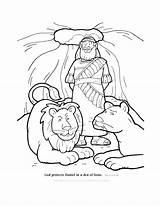 Daniel Den Lions Coloring God Protects Pages Bible Friends Stories sketch template
