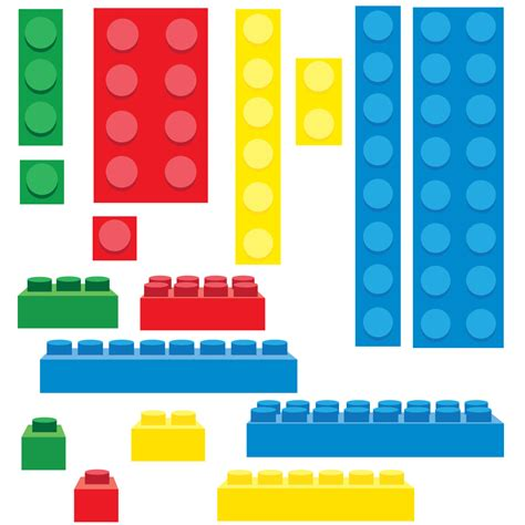 Items Similar To Lego Inspired Building Blocks Clip Art