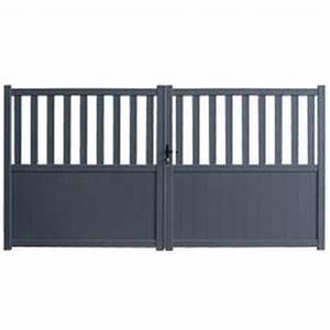 Portail Battant 5 Metres : portail aluminium double battants bendigo 3 5 m tres hauteur 180cm oogarden france ~ Nature-et-papiers.com Idées de Décoration