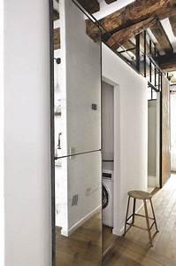 appartement marais avec poutres apparentes portes With porte de douche coulissante avec architecte interieur renovation salle de bain