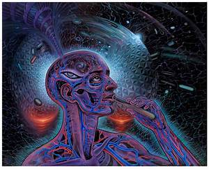"""Bicycle Day"" by Mars-1 x Alex Grey 