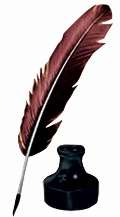 Feather Ink Pen Clipart Pot Clip Bottle