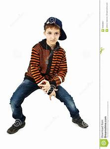 Little Cool Hip-hop Boy In Dance Stock Image - Image: 18463867