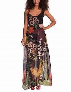 Desigual elgo robe trapeze imprime sans manche for Amazon robe desigual