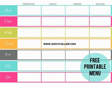 printable menu planners friday favorite  moritz