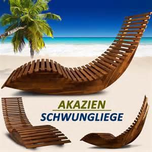 design relaxliege schwungliege liege wippe gartenliege liegestuhl sonnenliege relaxliege holz ebay