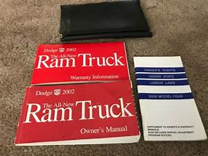 2002 Dodge Ram Truck Owners Manual Guide Book With Case