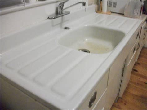 Metal Kitchen Cabinet And Porcelain Sink For Sale