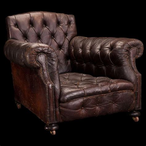 oversized leather library chair  stdibs